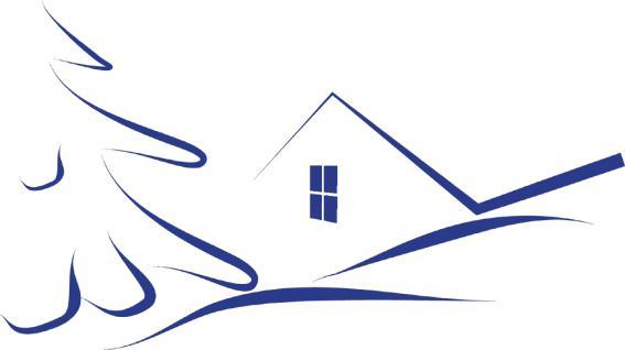 """Wandtattoo/ Dekorfolie mit Motiv """" stilisiertes Haus"""" Ø 90cm Länge max.100 cm, in 11 Farben WD0811 blau"""