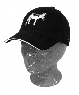 Baseballcap mit Einstickung - Esel Ass - 69734 schwarz