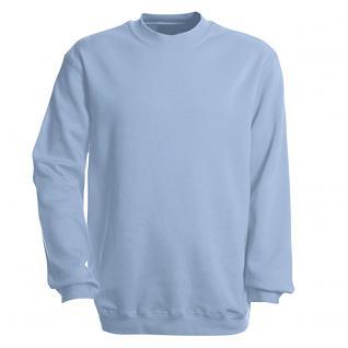 Sweat-Shirt unisex ohne Print in 14 farben Gr. S-XXL 41375 hellblau / M
