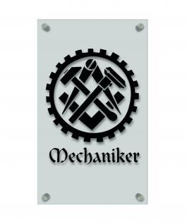 Zunftschild Handwerkerschild - Mechanker - beschriftet auf edler Acryl-Kunststoff-Platte ? 309439 schwarz