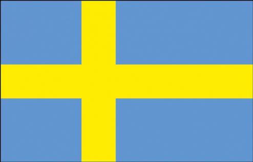 Stockländerfahne - Schweden - Gr. ca. 40x30cm - 77162 - Schwenkfahne mit Holzstock, Flagge
