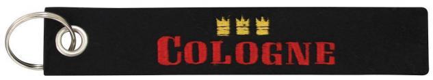Filz-Schlüsselanhänger mit Stick COLOGNE Gr. ca. 17x3cm 14021 Keyholder schwarz