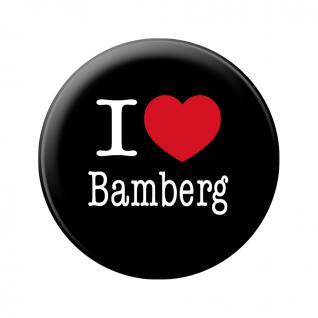 Küchenmagnet - I love Bamberg - Gr. ca. 5, 7 cm - 16033 - Magnet