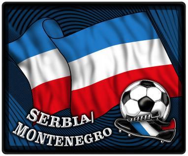 Mousepad Mauspad mit Motiv - Serbien & Montenegro Fahne Fußball Fußballschuhe - 83146 - Gr. ca. 24 x 20 cm