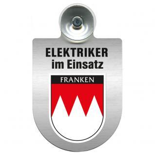 Einsatzschild für Windschutzscheibe incl. Saugnapf - Elektriker im Einsatz - 309489-18 Region Franken