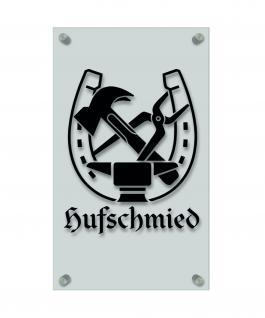 Zunftschild Handwerkerschild - Hufschmied - beschriftet auf edler Acryl-Kunststoff-Platte ? 309453 schwarz