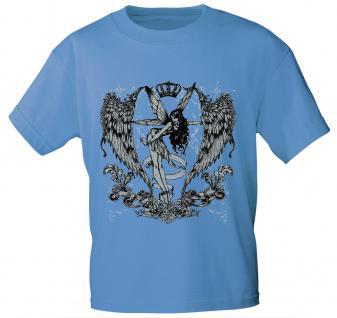 T-Shirt mit Print - Fee - 10898 - ersch. Farben zur Wahl - Gr. S-2XL hellblau / XL