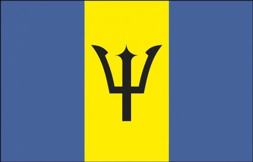 Autfahne - Barbados - Gr. ca. 40x30cm - 78022 - Flagge für Autos, Autoländerfahne
