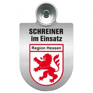 Einsatzschild Windschutzscheibe incl. Saugnapf - Schreiner im Einsatz - 309461 Region Hessen