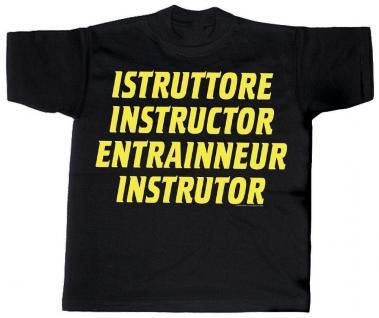 T-Shirt unisex mit Aufdruck - Istruttore Instructor Entraineur Instrutor - 10598 - Gr. XXL
