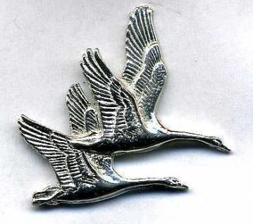 Anstecknadel - Metall - Pin - Flugente Gans Vogel - 02635