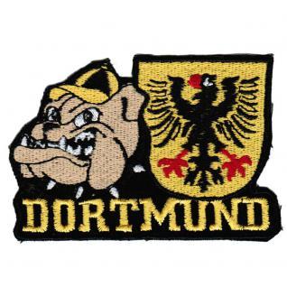 AUFNÄHER - Dortmund - 20620 - Gr. ca. 8, 5 x 6 cm - Patches Stick Applikation