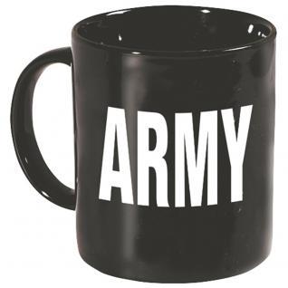 Tasse mit Print Army braun 57622