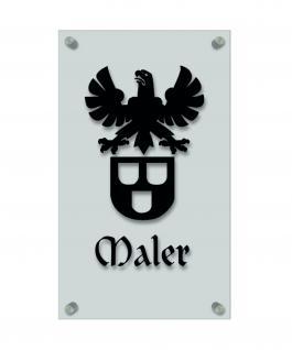 Zunftschild Handwerkerschild - Maler - beschriftet auf edler Acryl-Kunststoff-Platte ? 309448 schwarz