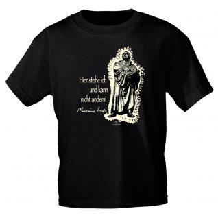 T-Shirt unisex mit Aufdruck in 6 Farben Luther Gr. S ?XXL 09705 schwarz / L