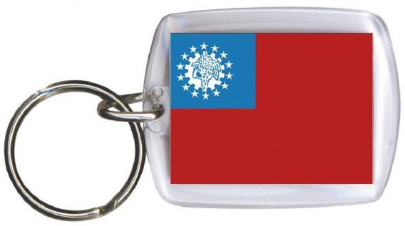 Schlüsselanhänger Anhänger - ASIEN - Gr. ca. 4x5cm - 81017 - WM Länder
