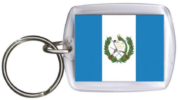 Schlüsselanhänger Anhänger - GUATEMALA - Gr. ca. 4x5cm - 81058 - WM-Länder