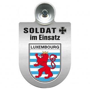 Einsatzschild Windschutzscheibe incl. Saugnapf - Soldat im Einsatz - 309392 - Region Luxembourg