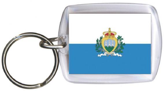 Schlüsselanhänger Anhänger - SAN MARINO - Gr. ca. 4x5cm - 81142 - Keyholder WM Länder