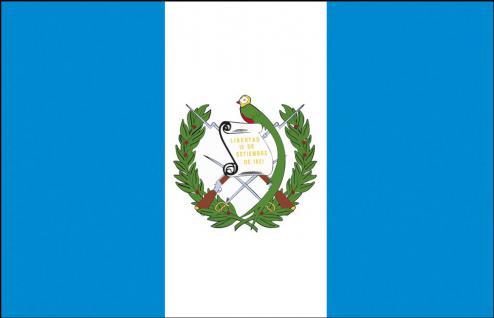 Autoscheiben-Flagge - Guatemala - Gr. ca. 40x30cm - 78058 - Flagge mit Klemmstab - Autoländerfahne