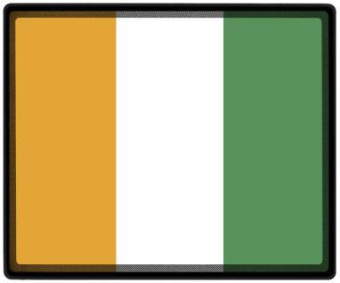 Mousepad Mauspad mit Motiv - Elfenbeinküste Fahne Fußball Fußballschuhe - 82046 - Gr. ca. 24 x 20 cm