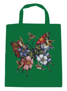 (U06993)Umweltfreundliche Baumwoll - Tasche , ca. 28 x 43 cm mit Aufdruck in 7 Farben grün