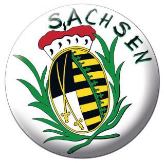 "Wappen Abzeichen Button Emblem Magnetbutton "" SACHSEN"" NEU (16234)"