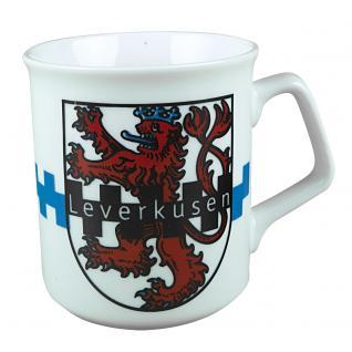 Tasse Kaffeebecher mit Print Leverkusen Emblem Wappen 57559