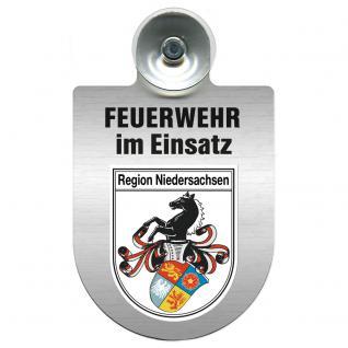 Einsatzschild Windschutzscheibe - Feuerwehr - incl. Regionen nach Wahl - 309355 Niedersachsen