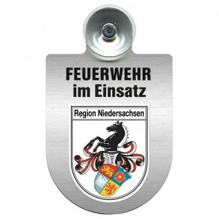Einsatzschild Windschutzscheibe incl. Saugnapf - Feuerwehr im Einsatz - 309355 - Region Niedersachsen