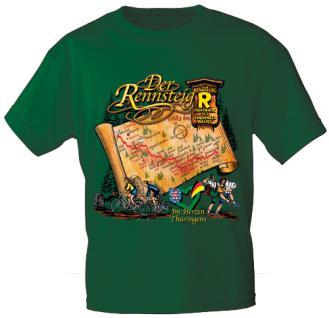 T-Shirt mit Print - Der Rennsteig - 09335 grün - Gr. S-2XL