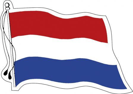 Aufkleber Autoaufkleber Länderfahne wehend - Netherland - Niederlande - 301242 - Gr. ca. 95mm x 70mm