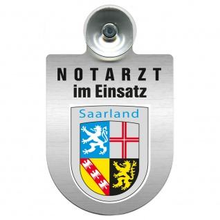 Einsatzschild Windschutzscheibe incl. Saugnapf - Notarzt im Einsatz - 309353 Region Saarland