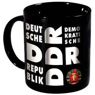 Tasse mit Rundumdruck DDR Ostalgie Emblem Abzeichen schwarz 57243
