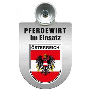 Einsatzschild Windschutzscheibe incl. Saugnapf - Pferdewirt im Einsatz - 309386-20 - Region Österreich