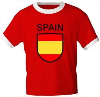 T-Shirt mit Print - Spain Spanien - 76454 rot - Gr. XL