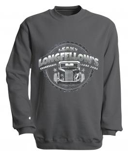 Sweatshirt mit Print - Longfellows - versch. farben zur Wahl - S10281 - Gr. grau / XL