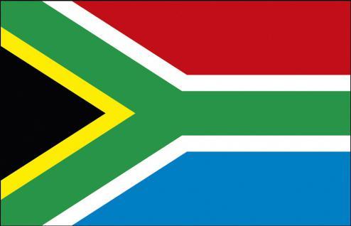 Schwenkfahne mit Holzstock - Südafrika - Gr. ca. 40x30cm - 77137 - Länderflagge, Fahne, Stockländerfahne