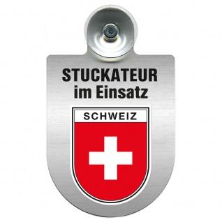 Einsatzschild Windschutzscheibe incl. Saugnapf - Stuckateur im Einsatz - 309747 - Region Schweiz