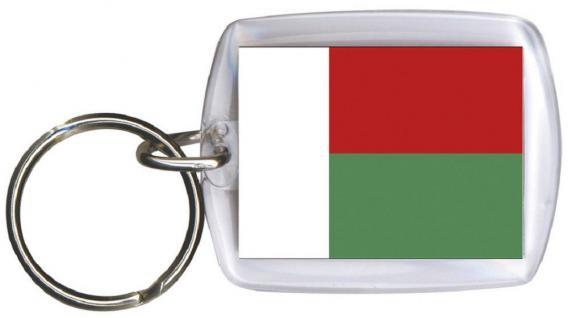 Schlüsselanhänger Anhänger - MADAGASKAR - Gr. ca. 4x5cm - 81097 - Keyholder WM Länder
