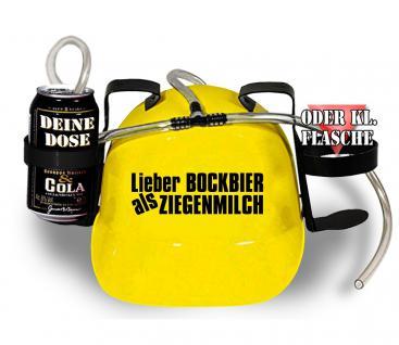 Schutzhelm - Spass-Trinkhelm - Lieber Bockbier als.. - 51665 gelb - größenverstellbar