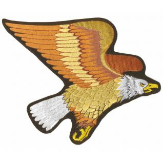 Aufnäher - Greifvogel - 08056 - Gr. ca. 23 x 24, 5 cm - Patches Stick Applikation