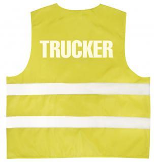 Warnweste mit Aufdruck - TRUCKER - 11568 gelb L/XL