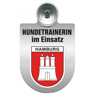 Einsatzschild mit Saugnapf Hundetrainerin im Einsatz 309379/1 Region Hamburg