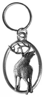 Metall- Schlüsselanhänger - röhrender Zwölfender - Gr. ca. 8, 3x3, 5cm - 13255
