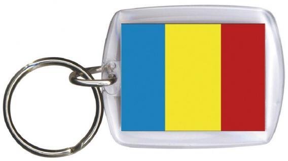 Schlüsselanhänger Fob for Key - TSCHAD - Gr. ca. 4x5cm - 81171 - Keyholder WM Länder