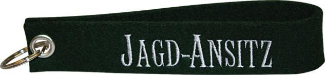 Filz-Schlüsselanhänger mit Stick Jagd Ansitz Gr. ca. 19x3cm 14355 schwarz