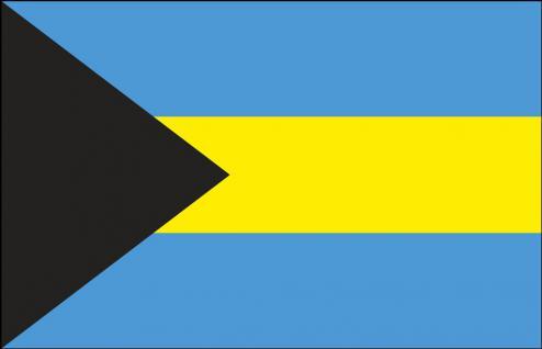 Stockländerfahne - Bahamas - Gr. ca. 40x30cm - 77019 - Dekoflagge Hissfahne