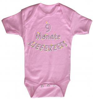Babystrampler mit Print ? 9 Monate Lieferzeit ? 08375 pink - 0-6 Monate