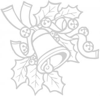 """Wandtattoo/ Dekorfolie mit Motiv """" Zweig mit Glocke"""" Ø 90cm Länge max. 100 cm, in 11 Farben WD0801 silber"""